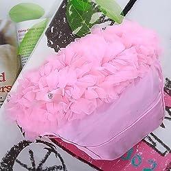 Generic Pink Baby Girl Ruffle Panties Bloomers Diaper Cover S