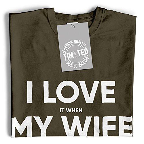 Tim and Ted Je LAime Quand ma Femme Me Laisse Aller à la Pêche du Poisson Drôle de Sport de Catch T-Shirt Pour Femme red