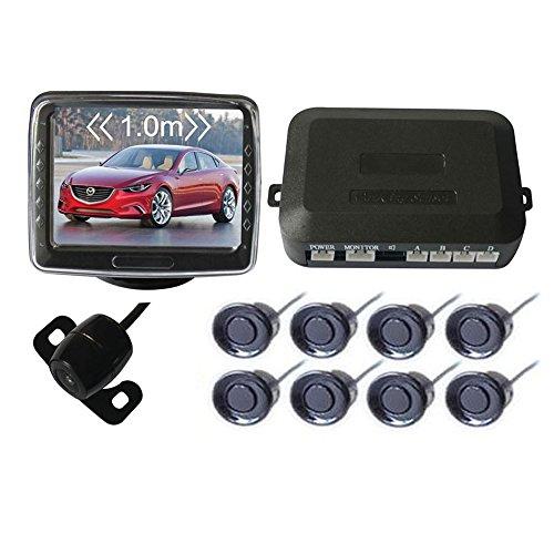 Pantalla LCD TFT MyHung coche sistema de sensores de aparcamiento con 8...