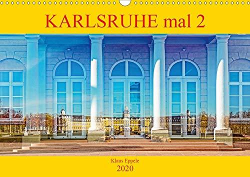 Karlsruhe mal 2 (Wandkalender 2020 DIN A3 quer): Faszinierende Doppelbelichtungen Karlsruher Highlights (Monatskalender, 14 Seiten ) (CALVENDO Orte)