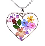 Best Bud Necklaces - Small Island Handmade Real Flower Heart Shape Cameo Review