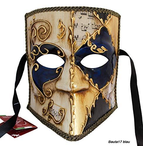 LannaKind Venezianische Maske Casanova Bauta Ballmaske Karneval Fasching -