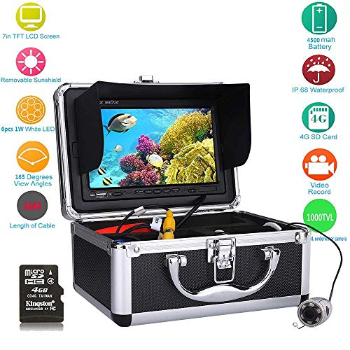 Fish finder 30M 7 ' ' Color Digital LCD 1000TVL HD DVR Recorder Waterproof Fishing Video - Digitale Lcd-dvr