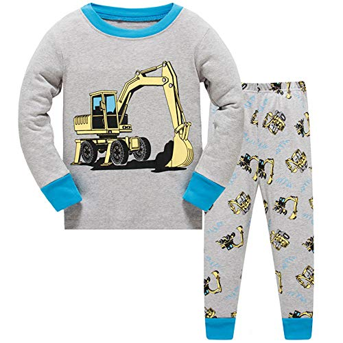c0772527e9 Boys Pyjamas Christmas Excavator Digger Nightwear Cotton Toddler Clothes Kids  Sleepwear Winter Long Sleeve Christmas Pjs Sets 2 Piece Outfit Age 3-4  Years ...