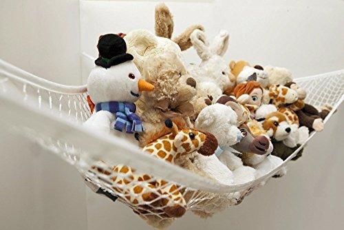 ZJstyle® Leichte Toy Storage Net Stofftier Spielzeug Hängematte und Spielzeug-Speicher-Net Animal Toy Hammock, Teddy Toy Organizer-Qualitäts-Organizing-Lösung, 180 x 120 x 120 cm, weißer Ordnung und Net ((180x120x120cm)