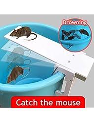 Decdeal Ratonera Eficaz con Tabla de Caminar Trampa para Ratón Teeterboard Automático Plaga de Roedores Control Auto Reset Herramientas de Ratón de Granja