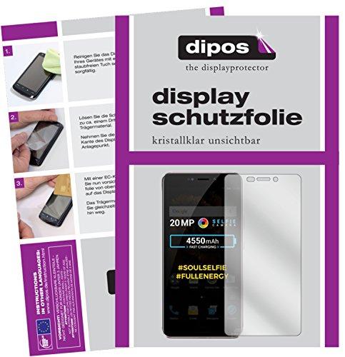 dipos I 2X Schutzfolie klar passend für Allview X4 Soul Xtreme Folie Bildschirmschutzfolie