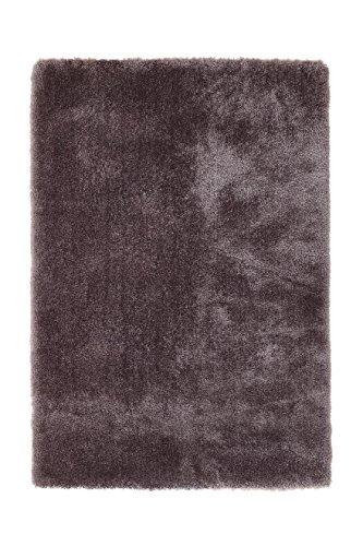 Teppich Wohnzimmer Carpet Hochflor Shaggy Design Royal 110 Rug Unifarbe Muster Polyester 200x290 cm Grau/Teppiche günstig online kaufen