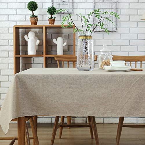 Morbuy Tischdecke Garten, Volltonfarbe Weihnachten abwaschbar Tischtuch Leinentischdecke...