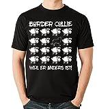 Siviwonder Unisex T-Shirt BLACK SHEEP - BORDER COLLIE - Hunde Fun Schaf schwarz M