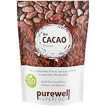 CACAO Pulver - 100% - Bio Superfood - Der Power-Nährstoff der Azteken - aus den edelsten Kakaobohnen der Welt - ohne jeglichen Zusatz weiterer Inhaltsstoffe (200 g BIO-Pulver)