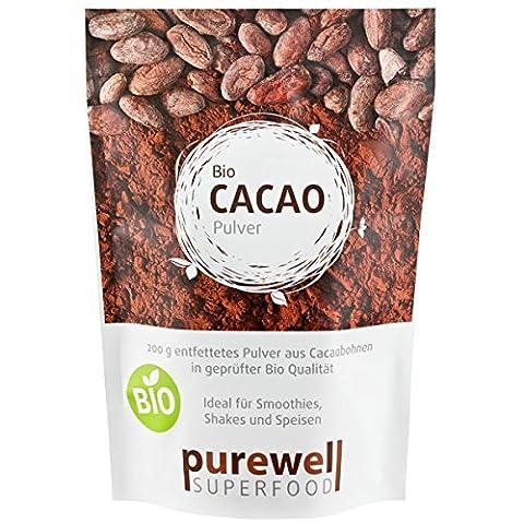 CACAO Pulver - Bio Superfood - Das Nährstoffwunder der Azteken - Für Glück, Energie & Konzentration (200g BIO