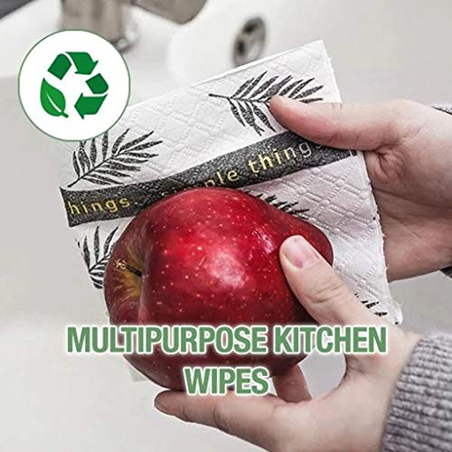 VICKY-HOHO Biologisch abbaubare waschbare Reinigungstücher Küche gepolstert Faul Reinigung Rag 30 Stück