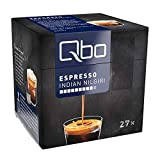 Qbo Kapseln - Espresso Indian Nilgiri (Kaffee, intensiv, vollmundig-kräftig) (27x8 Stück)