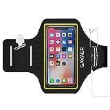 iPhone X / 8 Plus / 7 Plus / 6 Plus Sportarmband, GAVAER Schweißfest Handy Sport Armband Fitness iphone – Mit Schlüsselhalter, Mit Veränderbarer Länge, Sicherheitsdesign, geeignet für Bewegung, Joggen, Workout, Rad fahren, Wandern - Schwarz