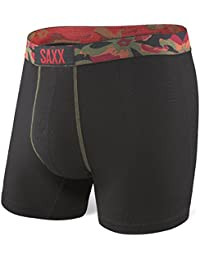 Saxx Vibe Modern Fit Boxers - Olive Flecked Heather