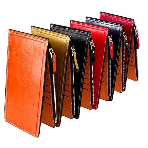 karteninhaber, Geldbörse Kreative Modische Zweireihige Multi Karten Brieftasche Clutch Wallet Small Case - Schwarz ()