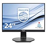 "Philips 240B7QPJEB Monitor 24"" IPS Formato 16:10, 1920 x 1200, 3 Side Frameless, Powersensor, Dispay Port, HDMI, VGA, Hub USB, Casse Integrate, Flicker Free, Low Blue Mode, Vesa, Nero"