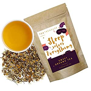 Tea Treasure Sweet Dreams Whole Leaf Tea - 50 Gm (A Chamomile blend, Detox Tea, Calming Tisane, Caffeine free)