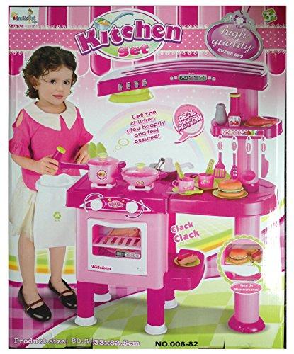 Cucina giocattolo grande per bambini con 30 accessori per for Accessori cucina giocattolo
