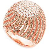 Little Treasures - 18 ct Rose Gold Diamond Pave Cocktail Ring