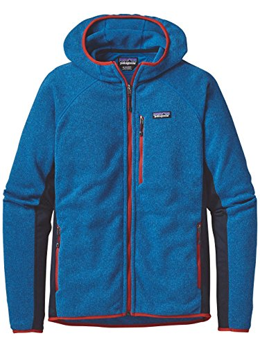 PATAGONIA MEN'S PERFORMANCE BETTER SWEATER FLEECE HOODY BANDANA BLUE
