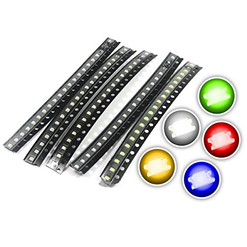 Amazon.uk Chanzon (5 Colors x 20 pcs = 100 pcs) 1206 SMD LED Diode Lights Assorted Kit