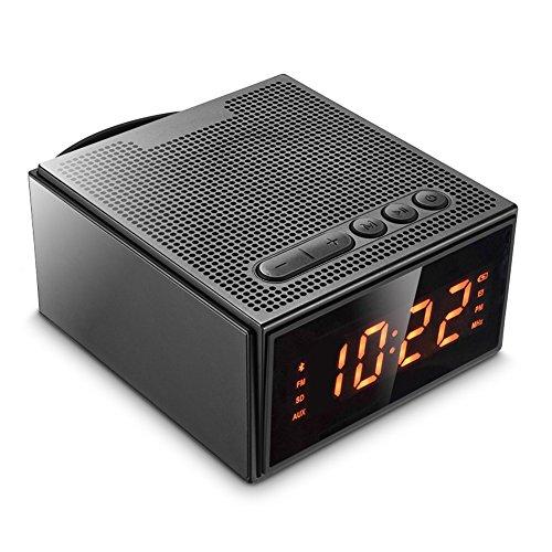 Enceinte Bluetooth Portable,Radio Réveil avec Luminosité Réglable et...