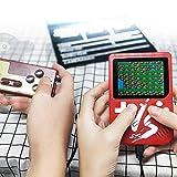 KOBWA Handheld Spielkonsole, 3 Zoll 500 Retro-Spielen Handheld Konsole FC TV-Ausgang Video Spieler Handspielkonsole, Mini Handheld-spielkonsole, Geburtstagsgeschenk für Kinder, Weiß