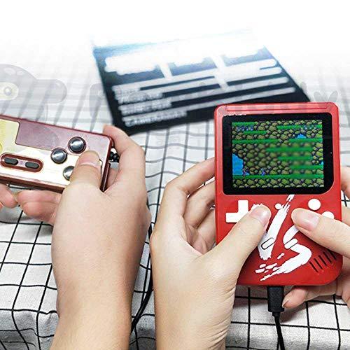 KOBWA Handheld Spielkonsole, 3 Zoll 500 Retro-Spielen Handheld Konsole FC TV-Ausgang Video Spieler Handspielkonsole, Mini Handheld-spielkonsole, Geburtstagsgeschenk für Kinder, Rot