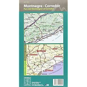 Montnegre - Corredor, mapa excursionista. Escala 1:25.000. Alpina editorial. (Mapa Y Guia Excursionista)