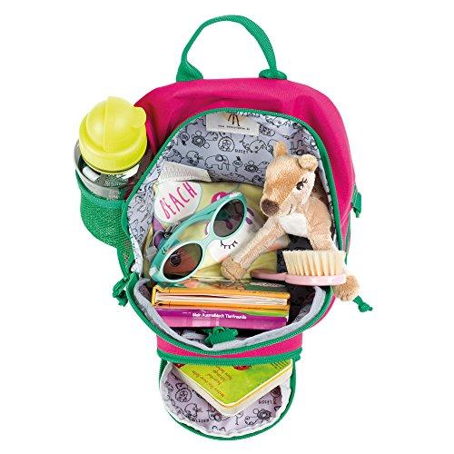 Lässig Lässig Kindergartenrucksack mit Brustgurt Kindergartentasche, Mini Backpack, Wildlife Elefant, Pink Mochila...