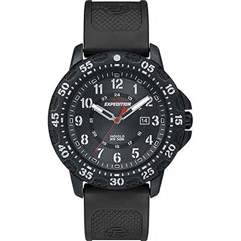 Timex T49994 Orologio da Polso al Quarzo, Analogico, Uomo, Resina, Nero