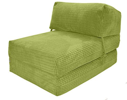 jazz-chairbed-lime-da-vinci-deluxe-single-chair-bed-futon