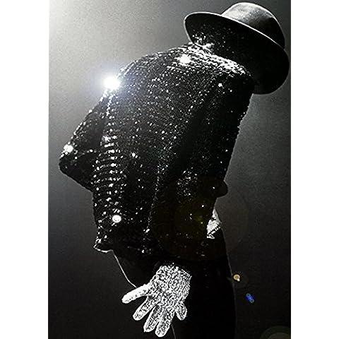 imagenation de una de Michael Jackson Guante profesional de 260g/m² Seda Art diseño de–sin marco, 700mm X