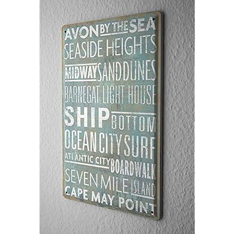 Divertimento Decorazione Della Parete Cartello Targa In Metallo Mare nave oceano 20X30 cm - Nave Tin