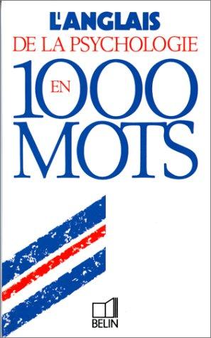 L'anglais de la psychologie en 1000 mots par Alain Frangi