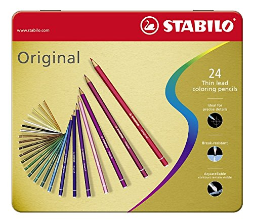 Stabilo original matite colorate - scatola in metallo da 24