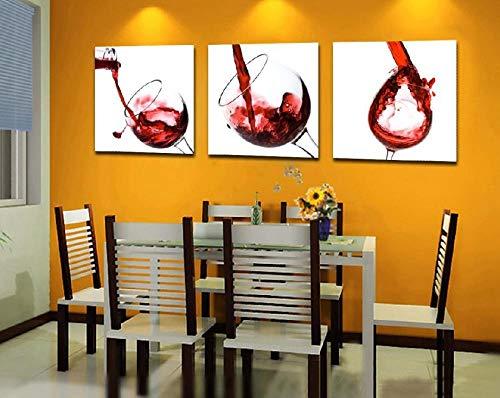 Copa de Vino Tinto Moderno Impresión Del Arte Moderno Cartel de la Pared Cuadros Decorar Vivero Lienzo de Pintura Sin Marco Cocina Comedor Pintura