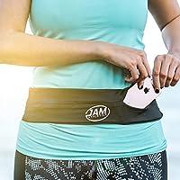 Jam Athletics Offer The Best Running Belt for Comfort, Adjustable Strap, Secure Key Clip, For Men, Women, Gels, Fits iphone 6 7 8 plus X, Samsung S7 S8 S9 plus