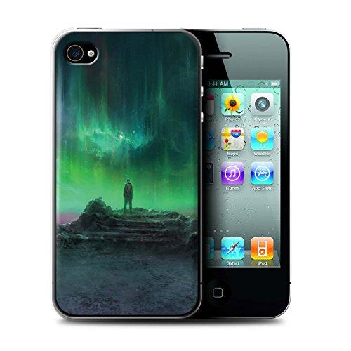 Offiziell Chris Cold Hülle / Case für Apple iPhone 4/4S / Pack 12pcs Muster / Fremden Welt Kosmos Kollektion Polarlicht