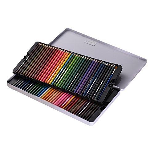KKmoon 72 Farbe Wasserlöslich Buntstifte Set mit Pinsel Metall Fall, Vor Geschärft für Kinder...
