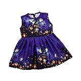 SEWORLD Baby Halloween Kleidung,Niedlich Kleinkind Kinder Baby Mädchen Cartoon ärmellose Prinzessin Kleid Kleidung(Violett,2 Jahren)