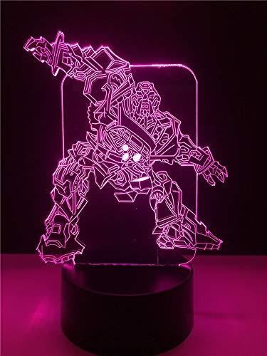 3D Led Nachtlicht Illusion Stimmungslicht Nachttischlampe Usb Led 3D Transformatoren Multicolor Schlafzimmer Dekorative Nachtlichter Tischlampe Party Atmosphäre Beleuchtung Kabel Geburtstagsgeschenk