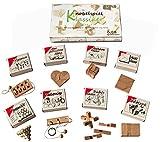 Knobelspiel Klassiker Set 3 - 8 Geschicklichkeitsspiele in Geschenkverpackung - incl. Lösung