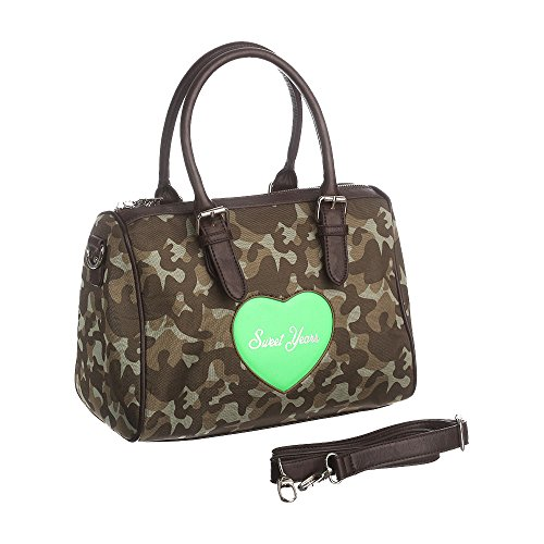 Sweet Years Borsa Donna - Mod. 2441 QUEEN Mimetico – Verde