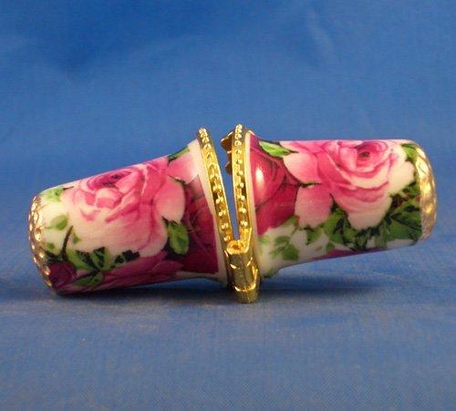 Porzellan China zum Sammeln Fingerhut Nadel Fall Rose Garden Chintz Rose Garden Chintz