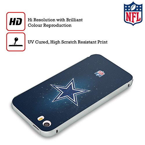 Ufficiale NFL Pattern 2017/18 Dallas Cowboys Logo Argento Cover Contorno con Bumper in Alluminio per Apple iPhone 6 Plus / 6s Plus LED