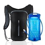 SKL Hydration Rucksack Trinkrucksack Mit 2L Trinkblase Hydration Pack Trinksystem Backpack perfekt für Wandern Radfahren Joggen, Spazieren Klettern und Bergsteigen