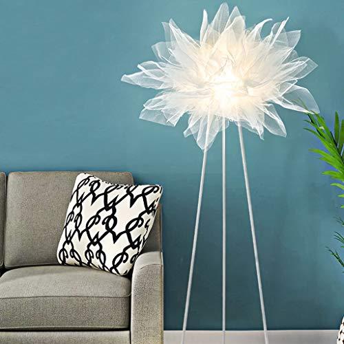 Lampadaires- Grande lampe de sol en gaze translucide de style nordique dimmable salon chambre salle à manger bureau salle de conférence lampe (Color : Monochrome)